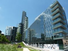 the changing skyline of Porta Nuova Milan, Italy....