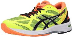 ASICS Mens GEL DS Trainer 21 Running Shoe Flash YellowBlackHot Orange 95 M US * Details can be found by clicking on the image.