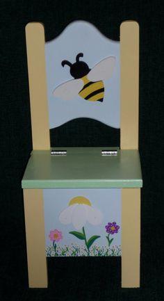 Wooden Chair Bumblebee Toddler Storage Chair by CjkidzTreasures, $45.99
