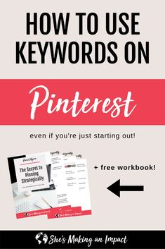 In this post, we are talking about how to strategically use keywords on Pinterest. Most entrepreneurs aren't doing this right and their Pinterest marketing strategy suffers!! Repin and grab our free workbook, the secrets to using keywords on Pinterest! blogging tips, blogging for beginners, how to make money online, entrepreneur tips, work from home, online business tips #pinterestmarketingtips #pinterestmarketing #bloggingforbeginners #bloggingtips