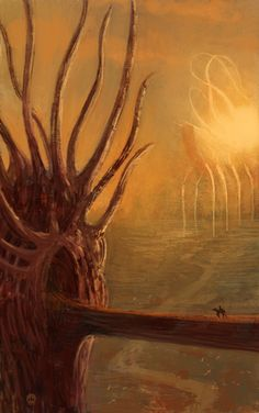 stranger in a strange land by *sangvine on deviantART    This artist's work reminds me of a cross between HP Lovecraft, Clive Barker, and Wayne Barlowe.