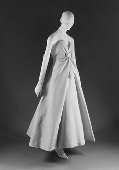 """Salzbourg""  House of Dior  (French, founded 1947)  Designer: Christian Dior (French, 1905–1957) Date: fall/winter 1956–57"