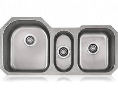 triple bowl undermount stainless sink - Google Search