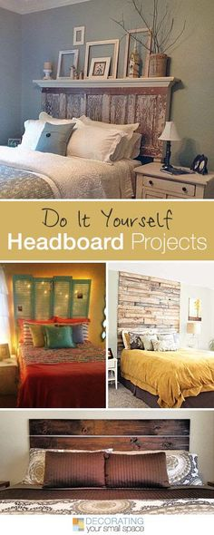 diy headboard love the top one . 16 DIY Headboard Projects Tons of Ideas and Tutorials! Home Bedroom, Bedroom Decor, Bedroom Ideas, Bedroom Fun, Bedroom Designs, Bedroom Simple, Decor Room, Art Decor, Master Bedroom