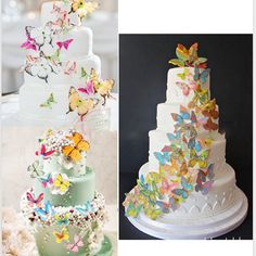 **Rush order please contact us ** Processing time business day after payment . Diy Wedding, Wedding Events, Wedding Day, Butterfly Cakes, Cupcakes, Diy Party, Event Decor, Fondant Cakes, Wedding Decorations
