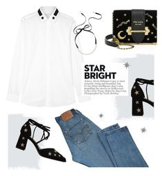 """Brighter than the stars"" by almafainer on Polyvore featuring Levi's, Prada, Givenchy, Kate Spade, Federica Tosi and StarOutfits"
