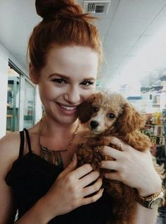 Madelaine Petsch and her dog