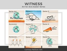 Witness - Easter Acts Series - Yr A — Corissa Nelson Church Graphic Design, Pentecost, Art File, Worship, Acting, How To Draw Hands, Vibrant, Digital Art, Sketches