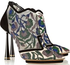 "Alexa Chung in Stunning Multicolored Nicholas Kirkwood ""Belle Epoque"" Booties"