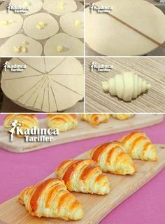 You are guaranteed to love these Fancy Bread Roll Shapes and we have a quick video to show you how to whip up 10 of the best Bakery techniques you'll love. Donut Recipes, Bread Recipes, Baking Recipes, Pasta Recipes, Cookie Recipes, Puff Recipe, Puff Pastry Recipes, Savory Pastry, Choux Pastry