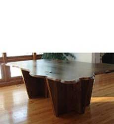 Live Edge Wood Slab Tables   Hand Made American Furniture   Solid Walnut Wood