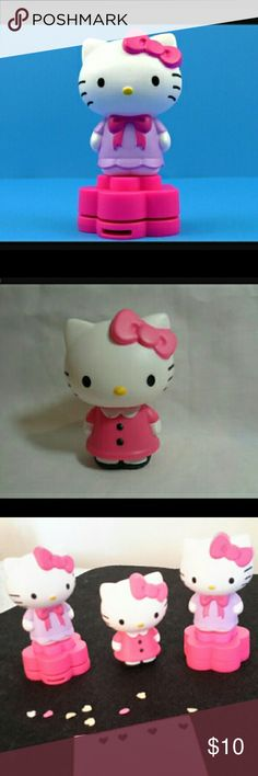 Hello Kitty Collectables(2x)Hrt. Punch(1x)Bobble Picture 1 is punch, Picture 2 is bobble head, 3rd picture shows all 3 and heart paper punches. You get 2 of punch 1 bobble head. All in excellent condition! Sanrio Other
