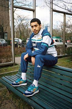 Patta x diadora & tracksuit - eu kicks: sneaker magazine 80s Men's Fashion Trends, 80s Rock Fashion, Best Mens Fashion, Sport Fashion, Fashion Terms, Fashion Pants, Retro Fashion, Kids Fashion, Men Street Look