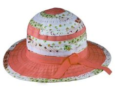 51815eaae27 Love this Peach   White Floral Sunhat by Jeanne Simmons Accessories on