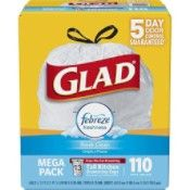 Glad OdorShield Tall Kitchen Drawstring Trash Bags - Febreze Fresh Clean - 13 Gallon - 110 Count - Health and Personal Care Product Search Kitchen Garbage Bags, Kitchen Trash Cans, All You Need Is, Febreze, Mega Pack, Odor Eliminator, Trash Bag, House Smells, Fresh And Clean