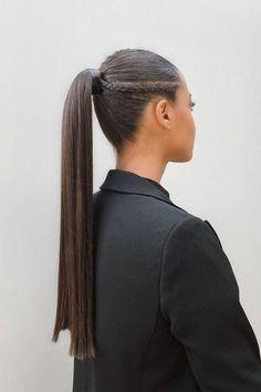Cool Braid Hairstyles, Trendy Hairstyles, Hairstyle Ideas, Medium Hair Styles, Curly Hair Styles, Ponytail Styles, Ponytail Ideas, Aesthetic Hair, Grunge Hair