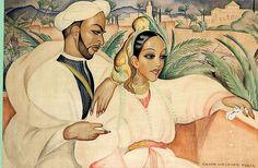 Gerda Wegener: Oriental couple, in the beginning o - by Bruun Rasmussen
