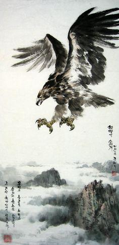 (North Korea) Eagle by Lee Hye-ok (1973-  )