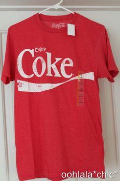 COKE LICENSED T-SHIRT PEACE SIGN COCA-COLA