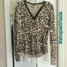 Lucky Brand Top Pink Cheetah Print Lucky Brand Top | size Medium | Lucky Brand Tops