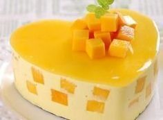 And dessert time ♥. Mango Mousse (Bánh Mousse Xoài) for dessert Weekend is arrived quicklyyyy. Jello Desserts, Jello Recipes, Sweet Desserts, No Bake Desserts, Healthy Desserts, Just Desserts, Cake Recipes, Dessert Recipes, Mango Recipes