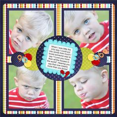 Scrapbook page squares Kids Scrapbook, Scrapbook Page Layouts, Scrapbook Sketches, Scrapbook Cards, Scrapbook Photos, Multi Photo, Creative Memories, Photo Layouts, Scrapbooks