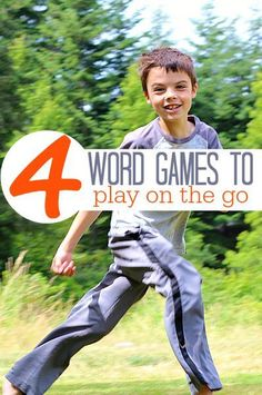 4 word games you can play on the go with your kids!