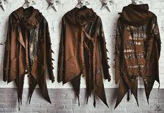 Steampunk - Postapocalyptic jacket brown jacket distressed jacket faux leather jacket ripped jacket postapocalyptic clothes steampunk by SinScissorsBoutique Estilo Folk, Three Days Grace, Armadura Cosplay, Dystopia Rising, Post Apocalyptic Costume, Cyberpunk Clothes, Melanie Martinez, Faux Leather Jackets, Distressed Leather Jacket