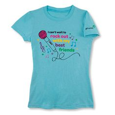 """This is a great shirt.   Mary's suggestion: Have the girls plan a trip to the recording studio and where this tee while working on your """"Amuse"""" Journey."""