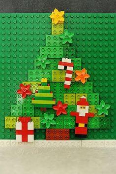 Experimenta durante la próxima Navidad con adornos de Lego DIY. | 21 formas de reutilizar de mejor manera tus legos