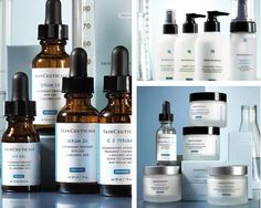 Skinceuticals line...all I have been using for the past 3 weeks now...so so so wish I had started using this years ago...WOW what a difference. I've spent 1000's of $$$ searching for the perfect skincare line...my search is OVER. Thank you thank you Skinceuticals