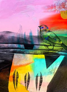 tweet my little bird, for you have a song to sing #print #bird #Cornwall