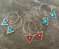 This miyuki triangle earrings made of high quality Miyuki Japanese beads.These elegant triangle miyuki earrings can be a Triangle Earrings, Bridesmaid Earrings, Birthstone Jewelry, Minimalist Jewelry, Bead Earrings, Valentine Day Gifts, Beaded Jewelry, Creations, Jewelry Making