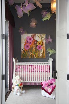 Babyzimmer mädchen grau rosa  babyzimmer grau rosa gestaltungsideen kutsche im kinderzimmer ...