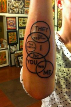 Awesome Beatles tattoo! I actually don't like the Beatles. But I love the idea of this tattoo for a family.
