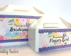 LARGE Personalised Wedding Favour Gift Bags With by DottyHens