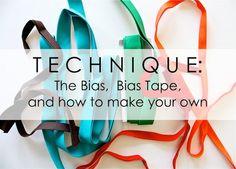Technique: Understanding Bias and making Bias Tape - CUT THEN SEW METHOD