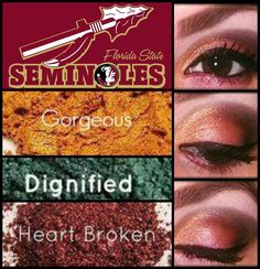 Florida State Seminole's inspired look! Show your team spirit and support! www.youniqueproducts.com/SabrinaDrew #makeup #seminoles