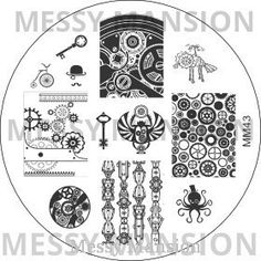 Messy Mansion - Image Plate MM43, $7.00 (http://www.messymansion.com.au/products/image-plate-mm43.html)