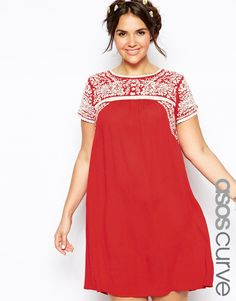 ASOS+CURVE+Premium+Embroidered+Swing+Dress