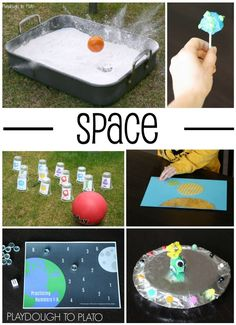 Awesome space crafts and activities for kids! Easy ways to entertain the kids this summer!