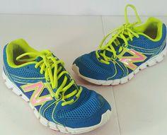 NEW BALANCE 750 v2 Women's Athletic Running Shoes Sneaker Sz 9.5 Blue Yellow #NewBalance #RunningCrossTraining