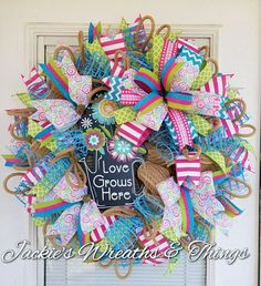 Check out this item in my Etsy shop https://www.etsy.com/listing/577470154/spring-wreath