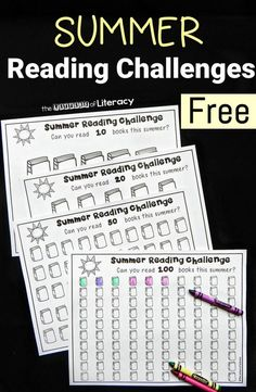 """Beat the """"summer slide"""" and keep kids' reading skills sharp with this fun and free summer reading challenge! Includes different levels to choose! Kids Reading, Teaching Reading, Fun Learning, Kindergarten Reading, Reading Logs, Reading Help, Reading Games, Guided Reading, Teaching Ideas"""