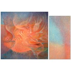 NOVICA Impressionist Painting (2006) (€2.945) ❤ liked on Polyvore featuring home, home decor, wall art, impressionist paintings, paintings, spanish paintings, novica paintings, fish home decor, blue wall art and portrait painting