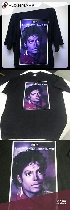 Michael Jackson collectible RIP tee 1pc Michael Jackson collectible RIP tee 100% cotton. All tees are XLs.2XL.3XL.4XL Pro power Tops Tees - Short Sleeve