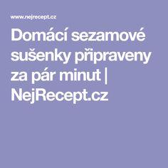 Domácí sezamové sušenky připraveny za pár minut   NejRecept.cz