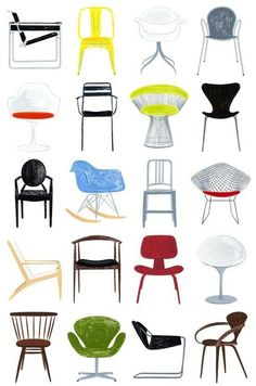 1000 images about sillas on pinterest lounge chairs for Sillas famosas