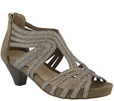 f2c16461f9c8 Azura by Spring Step Caged Leather Sandals - Esthetic — QVC.com