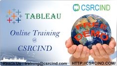 #TABLEAU #COURSE #ONLINE #TRAINING @#Csrcind  http://csrcind.com/online-training/tableau/  Visit the above link for course details:  Interested in joining  Pls Contact us or email us:  Call  : +91- 7207743377  MAIL: csrcind.hyd@gmail.com  Website URL: http://csrcind.com/